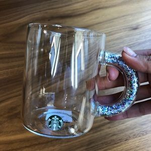Starbucks ✨limited edition✨ 2019 glitter glass mug